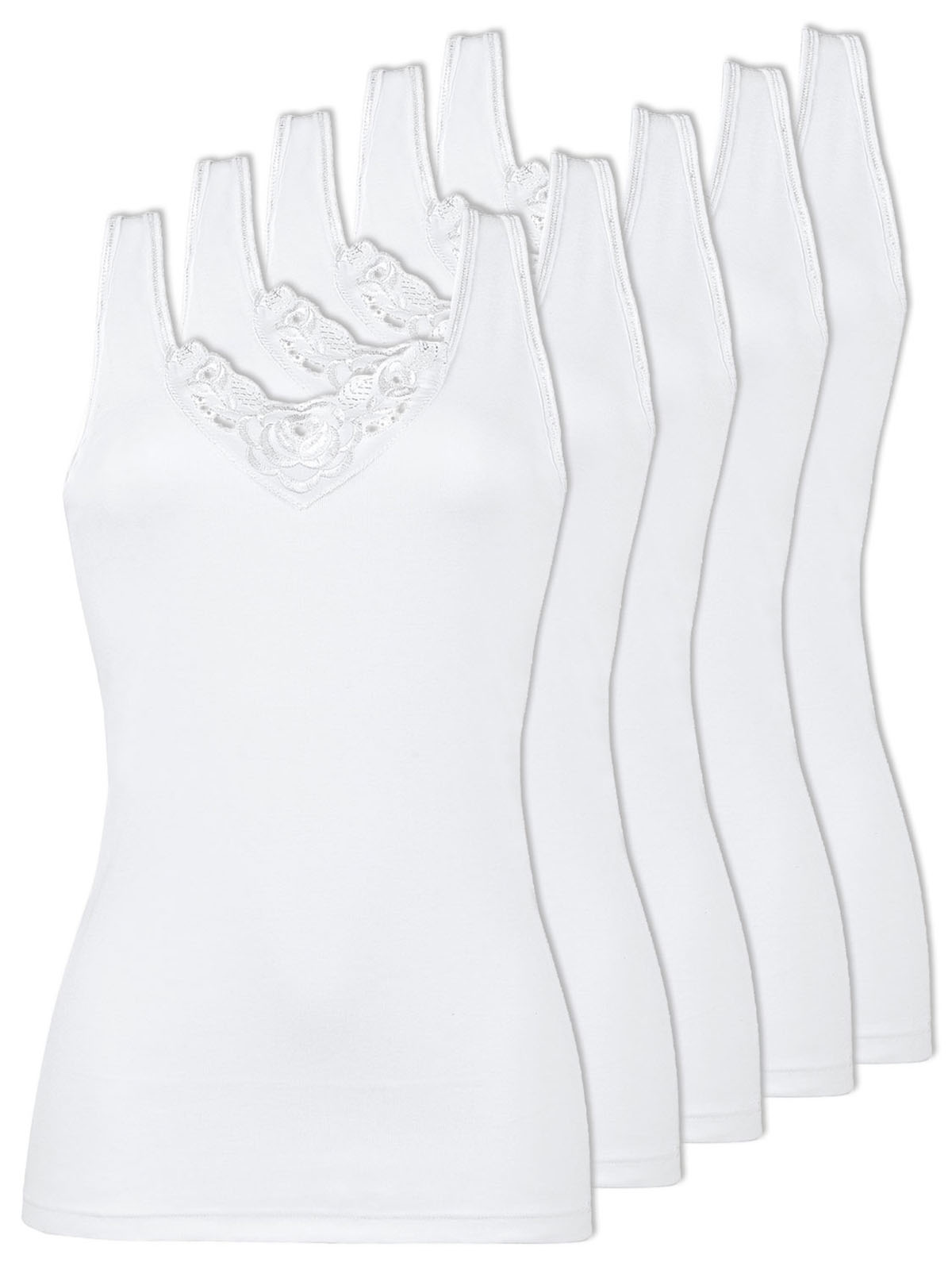 Naturana Pack of 5 Women's Undershirt 802501