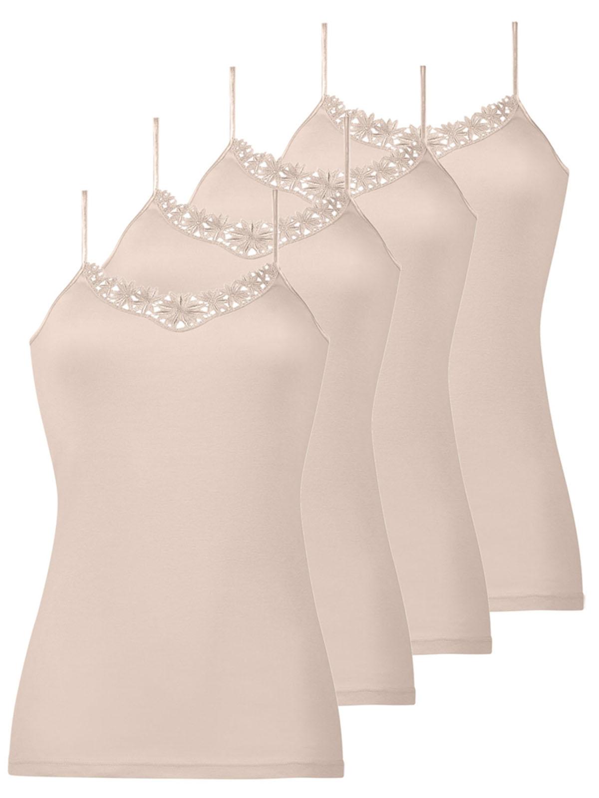 NATURANA 4er Pack Damen-Unterhemd 2640, 38-46