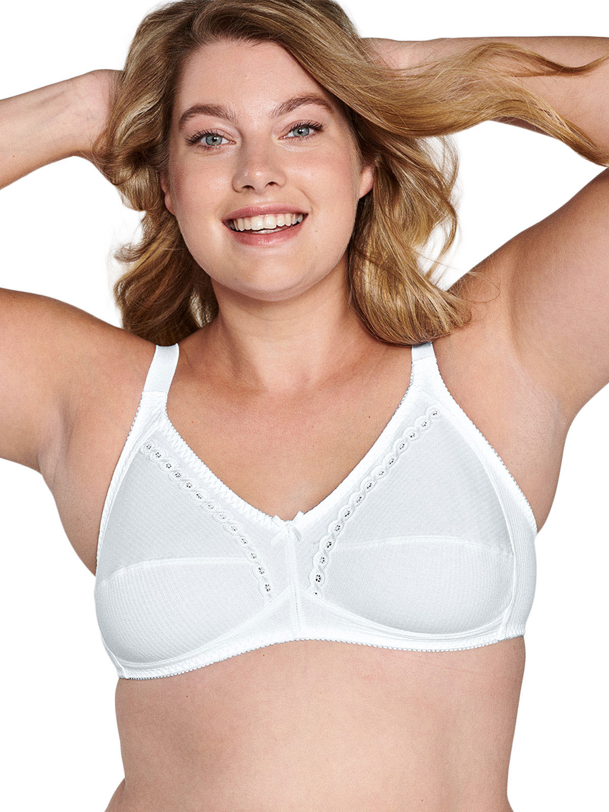 Naturana 2 Pack Non-wired Cotton Soft Bra 86545