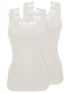 2er Sparpack Woll-Damen-Unterhemd ohne Arm 7960841