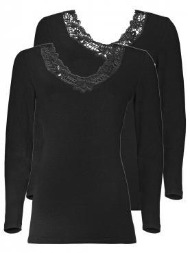 2er Sparpack Woll-Damen Unterhemd 7960831
