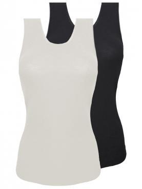 2er Sparpack Woll-Damen Achselhemd 7960801