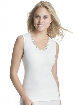Angora Damen Unterhemd ohne Arm 8050910