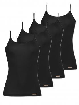 4er Sparpack Damen Unterhemd Spaghettiträger