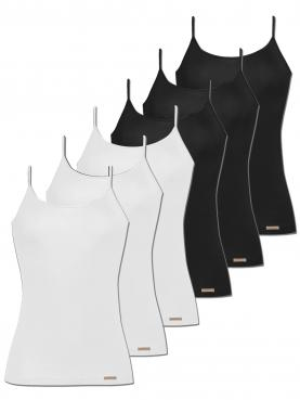 6er Sparpack Damen Unterhemd Spaghettiträger 1192791