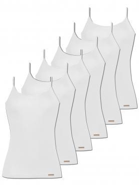6er Sparpack Damen Unterhemd Spaghettiträger