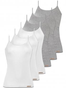 6er Sparpack Damen Trägershirt