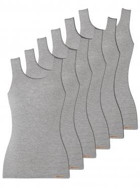 6er Sparpack Damen Unterhemd Achselträger 1132764
