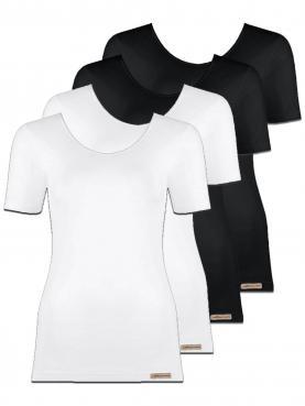 4er Sparpack Damen Shirt 1/4 Arm