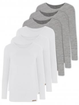 6er Sparpack Damen Shirt 1/1 Arm