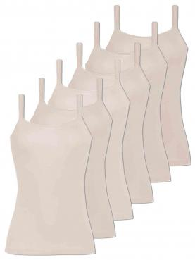 6er Sparpack Damen Hemd breiter Träger