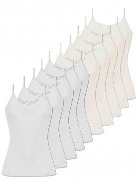 10er Sparpack Damen Hemd Spaghettiträger 1191900
