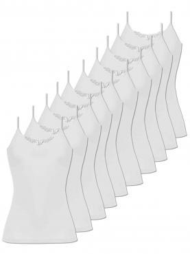 10er Sparpack Damen Hemd Spaghettiträger