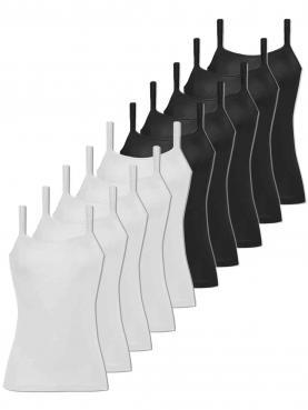 10er Sparpack Damen Hemd breiter Träger