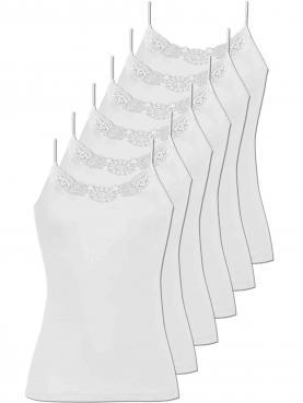 6er Sparpack Damen Spaghetti Hemd