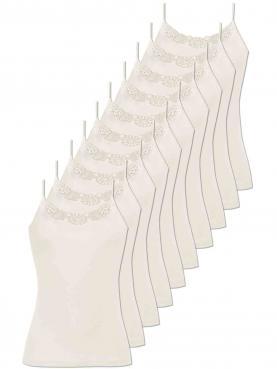 10er Sparpack Damen Spaghetti Hemd