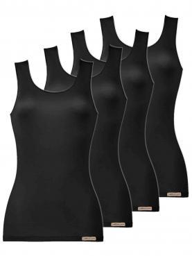 4er Sparpack Damen Unterhemd Achselträger