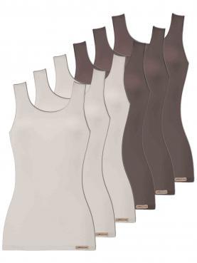 6er Sparpack Damen Unterhemd Achselträger