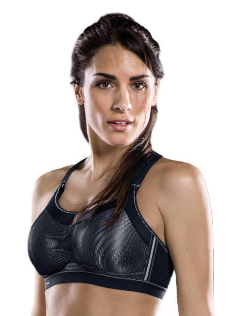 ANITA Sport-BH X-Back mit Schale, 5539, 80, E, Schwarz