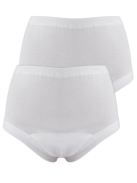 Sangora 2er Sparpack Inkontinenz Damen-Taillenslip 7009214 = L in Weiß Weiss | L
