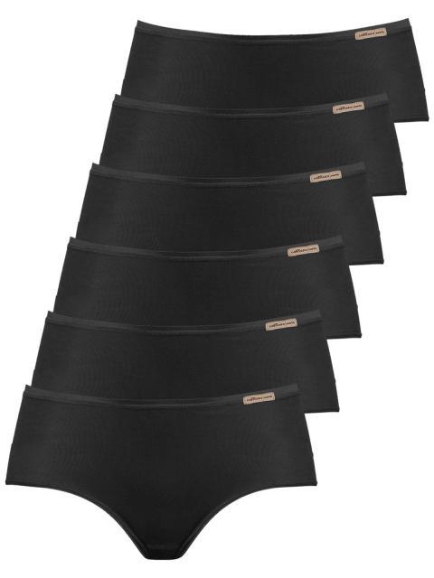 comazo earth 6er Sparpack Damen Panty 1092764, Gr.42, schwarz schwarz | 42
