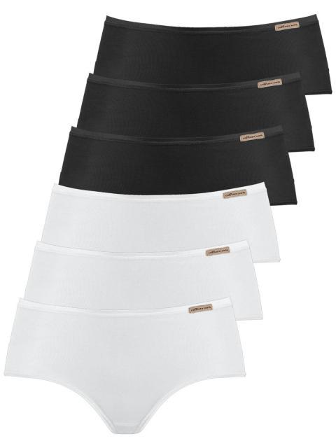 comazo earth 6er Sparpack Damen Panty 1092764, Gr.40, schwarz-weiss schwarz-weiss | 40