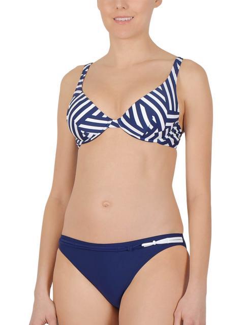 NATURANA Triangle Bikini mit Bügel 72525 Gr. 42D in dunkelblau-weiß