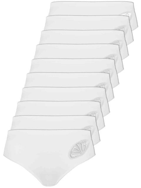 Comazo 10er Sparpack Damen Hüftslip, 1361900, 38, weiss weiss | weiss | 38
