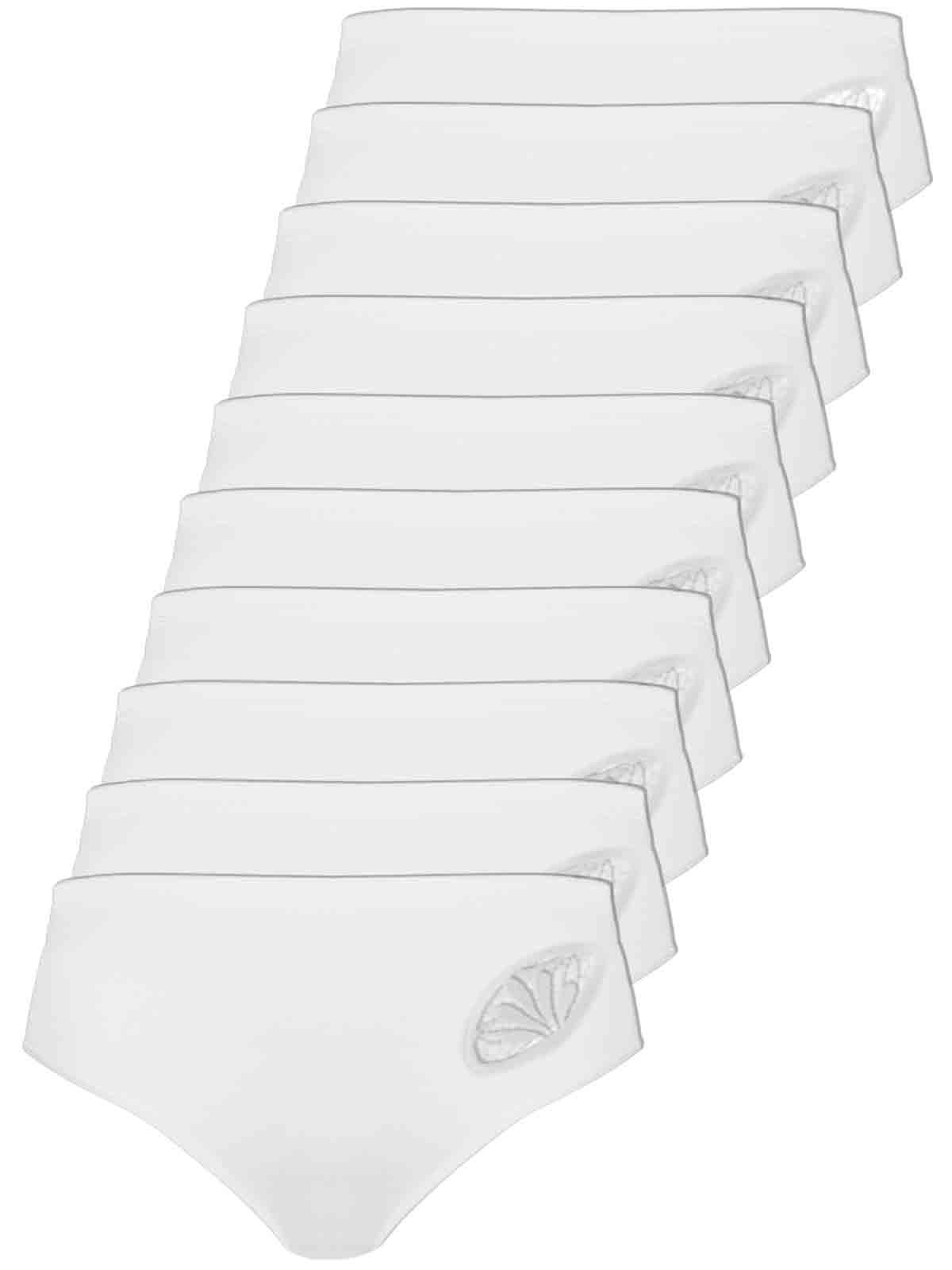 Comazo 10er Sparpack Damen Hüftslip, 1361900, 38, weiss